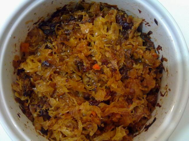 Baked cabbage sauerkraut in polish zapiekana kapusta wigilijna in poland it is a typical christmas dish one of the 12 dishes that should be served on christmas eve dinner forumfinder Choice Image